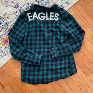 NFL junior Philadelphia eagles button down